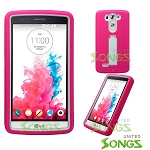 LG G3 Mini/Vigor LS885 D725 Heavy Duty Case With Kickstand Pink/White