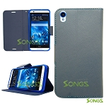HTC Desire 816 710c Wallet Case Blue