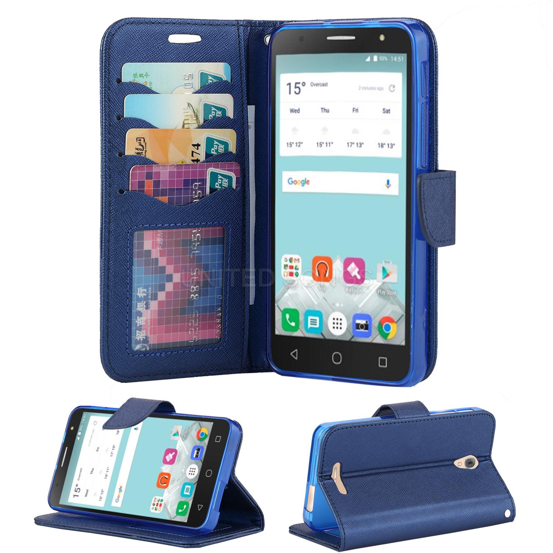 cheap for discount e46e6 a26c6 Alcatel Fierce 4/POP 4 Plus/Allura 5056 Wallet Case Blue