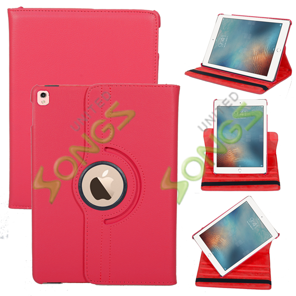 iPad Air 360 Degree Rotating Leather Case Red