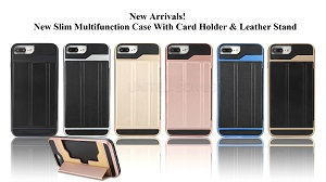 New Slim Multifunction Case With Card Holder & Stand