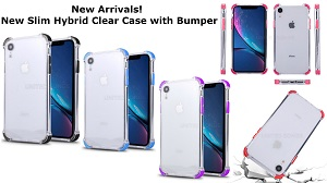 New Slim Hybrid Clear Case With Color Bumper