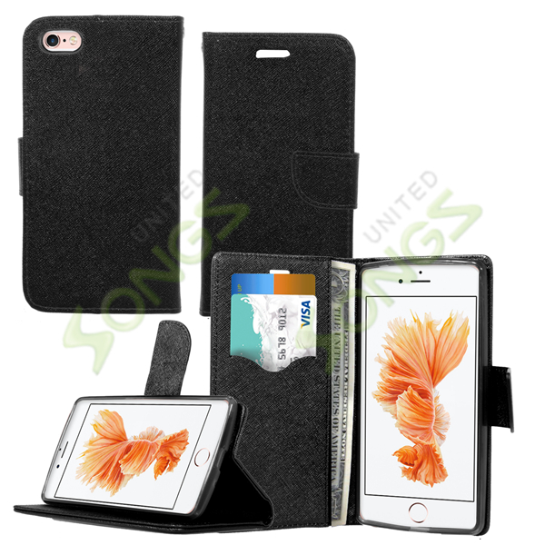 iPhone 6S/6 Wallet Case Black