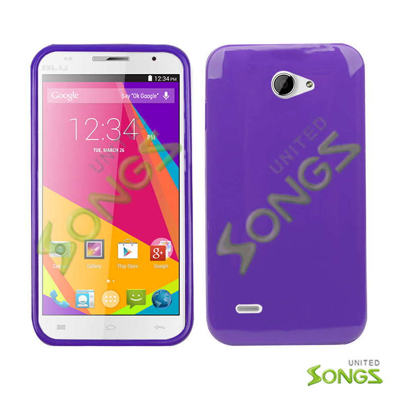 BLU Studio 5.5K D710  TPU(Gel) Case Purple