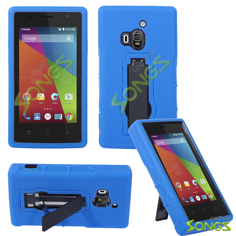 Coolpad Rogue 3320A Heavy Duty Case With Kickstand Blue/Black