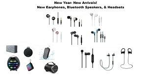 New Earphone, Bluetooth Headsets & Speaker