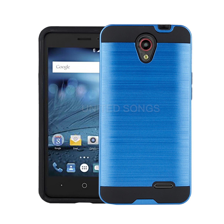 ZTE Prestige N9132/Avid Plus Z828/Sonata 3 Z832 Hybrid Case Blue