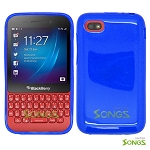 BlackBerry Q5 TPU(Gel) Case Blue