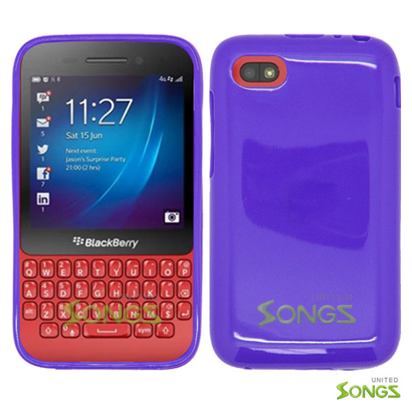 BlackBerry Q5 TPU(Gel) Case Purple