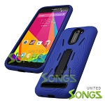 BLU Studio 6.0 LTE Heavy Duty Case with Kickstand Blue/Black