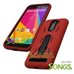 BLU Studio 6.0 LTE Heavy Duty Case with Kickstand Red/Black