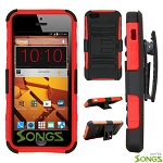 ZTE N9515 Hybrid Kickstand Case with Hostel Belt Clip Black/Red