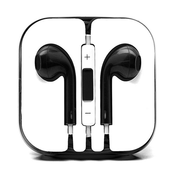 iPhone 6/SE/5/4 Series Earphone with MIC and Volume Control Black