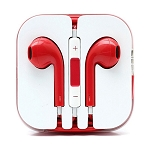 iPhone 6/SE/5/4 Series Earphone with MIC and Volume Control Red