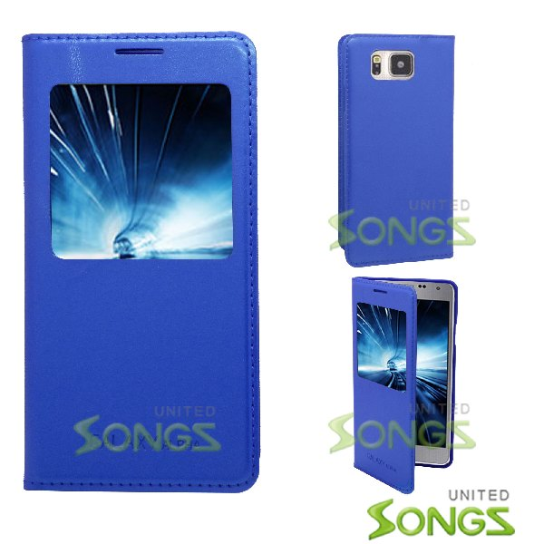 Samsung Galaxy Alpha G850 Flip Case Blue