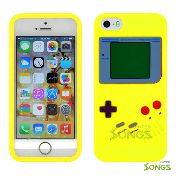 iPhone 5 5S Game Boy Soft Design Case Yellow