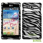 LG Spirit MS870 Hard Design#6 Black White Zebra