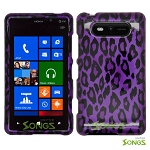 Nokia Lumia 820 Hard Design#2 Purple Cheetah