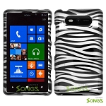 Nokia Lumia 820 Hard Design#6 Black White Zebra