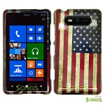 Nokia Lumia 820 Hard Design#11 American Flag