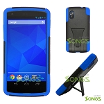 LG Nexus 5 Hybrid Case with Kickstand Black/Blue