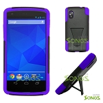 LG Nexus 5 Hybrid Case with Kickstand Black/Purple