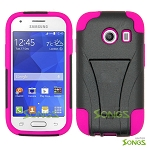 Samsung Galaxy Ace Style S765C (Unlocked) Hybrid Kickstand Case  Black/High Pink