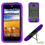 ZTE Z998 4G (AT&T) Hybrid Kickstand Case Black/Purple
