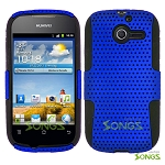 Huawei Ascend Y M866 Mesh Hybrid Case Blue/Black