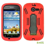 Huawei Ascend Y M866 (Unlock) Heavy Duty Case with Kickstand Red/Black