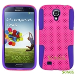 Samsung Galaxy S4 Mesh Hybrid Case Pink/Purple