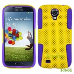 Samsung Galaxy S4 Mesh Hybrid Case Yellow/Purple