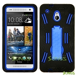 HTC One mini M4 Heavy Duty Case with Kickstand Black/Blue