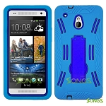 HTC One mini M4 Heavy Duty Case with Kickstand Ocean Blue/Blue