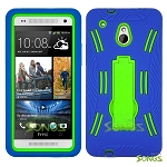 HTC One mini M4 Heavy Duty Case with Kickstand Ocean Blue/Green