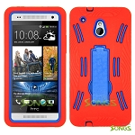 HTC One mini M4 Heavy Duty Case with Kickstand Red/Blue