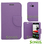 Alcatel One Touch Evolve/5020T Wallet Case Purple
