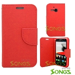 Alcatel One Touch Evolve/5020T Wallet Case Red