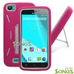 BLU Studio 5.0Ce/5.0C D536/D536U Heavy Duty Case with Kickstand Pink/White