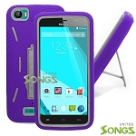 BLU Studio 5.0Ce/5.0C Heavy Duty Case with Kickstand Purple/White