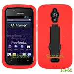 Huawei Vitria H882L(MetroPCS, Straight Talk) Y301 A2 Heavy Duty Case with Kickstand Red/Black