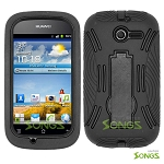 Huawei Ascend Y M866 Heavy Duty Case with Kickstand Black/Black
