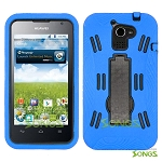 Huawei Premia 4G M931 (MetroPCS) Heavy Duty Case with Kickstand Blue/Black