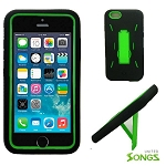 iPhone 6 Heavy Duty Case with Kickstand Black/Green