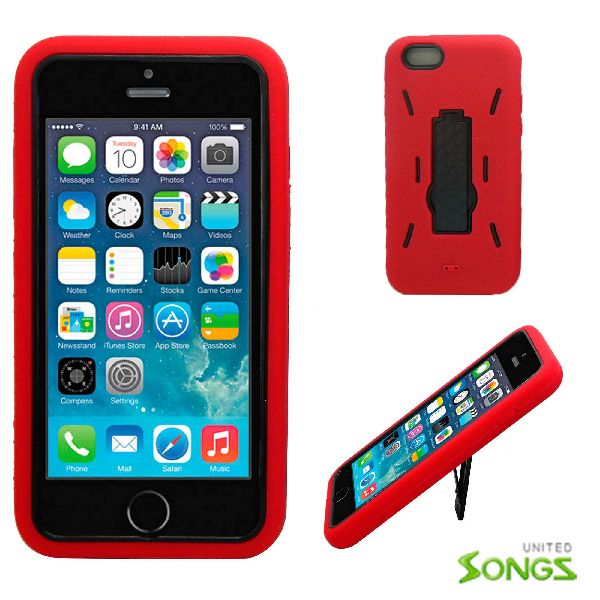 iPhone 6 Heavy Duty Case with Kickstand Red/Black
