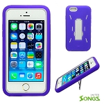 iPhone 6 Heavy Duty Case with Kickstand Purple/White