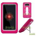 Motorola DROID Mini XT1030 Heavy Duty Case with Kickstand High Pink/White