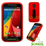 Motorola G(2nd-Gen) Heavy Duty Case With Kickstand Red/Black
