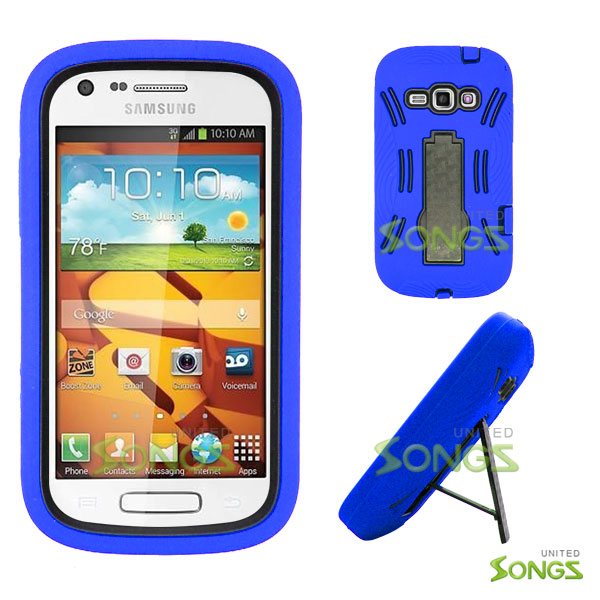 Samsung Galaxy Prevail 2 Galaxy Ring M840 Heavy Duty Case with Kickstand Blue/Black