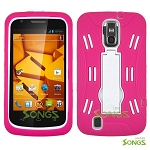 ZTE Force N9100 Heavy Duty Case with Kickstand Pink/White